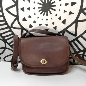 Coach vintage city bag black leather authentic